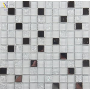 GLASS MOSAIC-WHITE