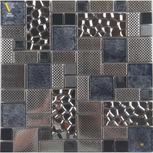 STAINLESS STEEL MOSAIC-SILVER