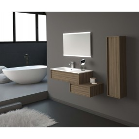 WASH BASIN-INTEGRATED WASH BASIN-GLOSSY WHITE