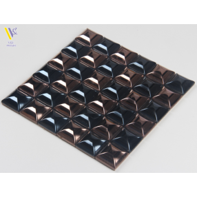 STAINLESS STEEL MOSAIC-BROWN